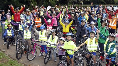 A great turn out for the Ottery community bike ride. Photo by Terry Ife ref sho 7005-39-13TI To orde