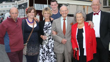 George and Betty Harris celebrated their diamond wedding anniversary with a meal with family and fri