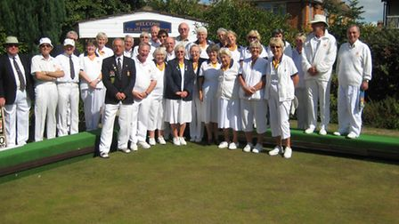 Sidmouth bowlers at Burnham-on-Sea
