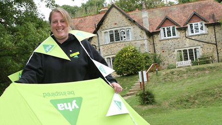 Beer Youth Hostel manager Amy Bates is pictured at the open day which was held on Sunday. Photo by S