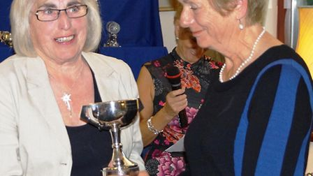 Mrs Margaret Thompson with the Richie Cup