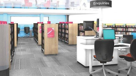 An artist's impression of the revamped Sidmouth Library