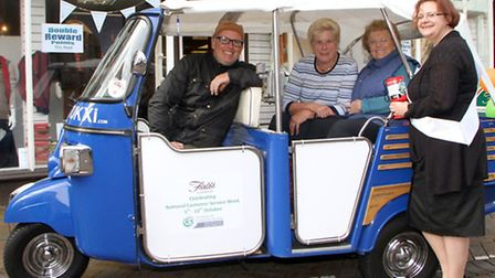 Fields of Sidmouth celebrated National Customer Service Week with special trips aboard a tuk tuk tak