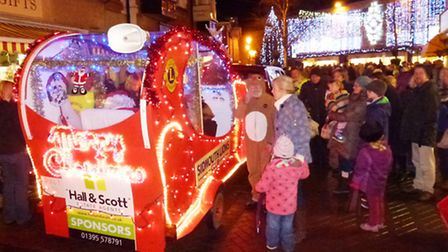 Santa's sleigh will be back in Sidmouth couresy of the Lions Club