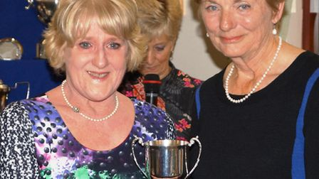 Mrs Angela Cole winner of the Eclectic Cup and the Radford Trophy