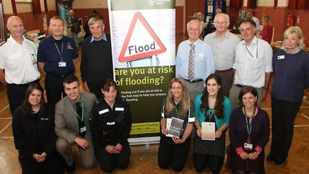 A flood prevention exhibition was held at The Institute. Councillors, fire sevice and the police wer