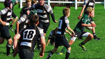Sidmouth U13 cup action