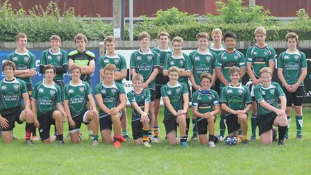 The Sidmouth Under-16 team
