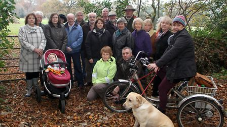 Concerned West Hill residents near an area of land that they fear may be developed for housing. Pict