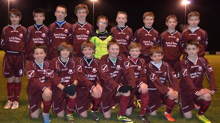 The Exeter and District Under-12 select squad before their meeting with the Taunton and District You