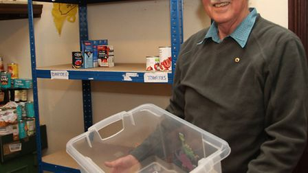 Sid Valley Food Bank chairman Ian Skinner is appealing for more donations to help fill their empty s