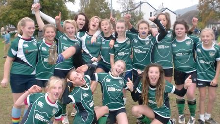 The Sidmouth girls who won their first two games as a team