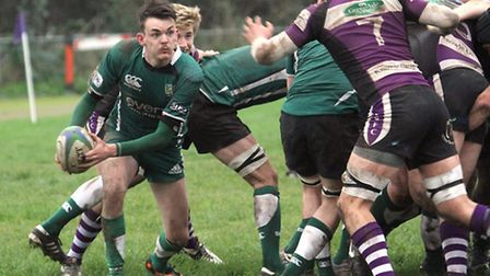 Sidmouth 2nds took on their Exmouth counterparts at the Imperial on Saturday. Photo by Simon Horn. R