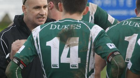 Half time team talk. Sidmouth chiefs at Blackmore to Wadebridge. Photo by Terry Ife ref shsp 8212-45