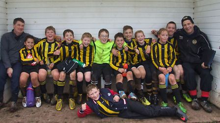 West Hill Wasps Under-12s after their stunning success at reigning champions and age group cup holde