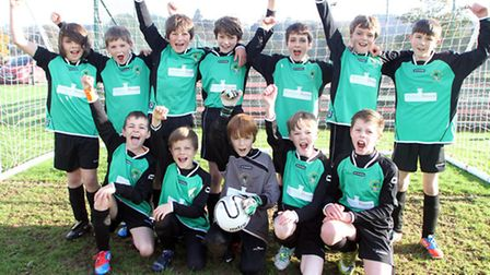 Sidmouth Under 11's played West Hill Wasps on Saturday, September 16. Back row L - R. Josh Miller, J