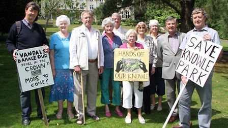 Angry Sidmouth residents gathered at Knowle Gardens after seeing their application for public footpa