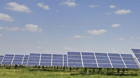 Solar farm plan: Picture for illustration only