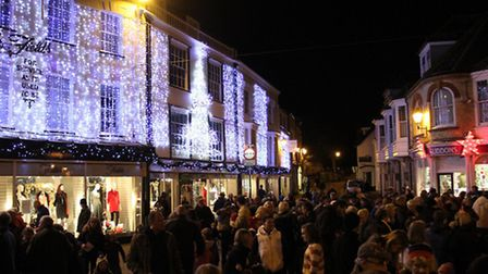 Sidmouth Christmas lights switch on. Photo by Simon Horn. Ref shs 5150-47-13SH. To order your copy o