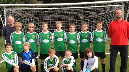 Sidmouth Raiders Under-12s who play in Division Three of the Exeter and District Youth League