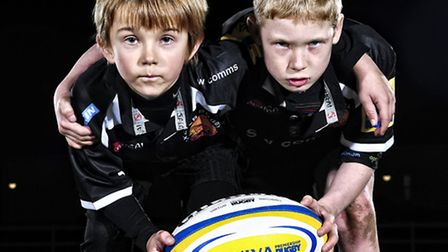 Young rugby stars Jack Garner and Finn Cotton