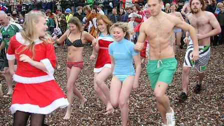 2012 Boxing day swim in Sidmouth. Picture by Terry Ife ref shs 6173-52-12TI To order your copy of th