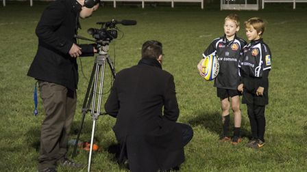 A couple of Sidmouth Under-9 players are interviewed for TV!