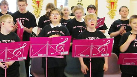 Children from Mill Water School performed in Sidmouth