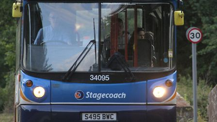 The number 157 bus will be affected by the three-week road closure in Newton Poppleford. Photo by Si