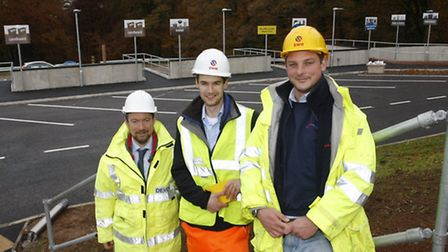 Chris Chandler (senior waste manager for DCC),Chris Vooght(assistant engineer) and Jim Wright(site a