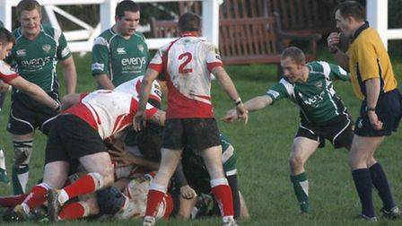 Sidmouth chiefs lost to Cambourne at the wekend by 10 points in a high scoring game. Photo by Terry