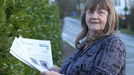 Anne Fraser with the bundle of parking correspondence this week. Photo by Simon Horn. Ref shs 9066-0
