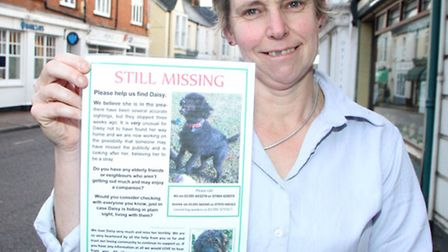 Ali Colledge appeals for information regarding her missing dog, Daisy. Picture by Alex Walton. Ref e