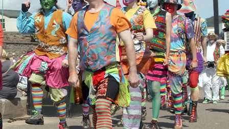 Colourful characters at last year's Sidmouth FolkWeek. Picture by Alex Walton. Ref shs 9190-32-13AW.