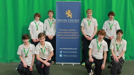 The Sidmouth College Under-15 cricket team who won the Devon County title at Exeter University