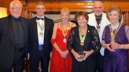 Pictures from left to right: President elect of Sidmouth Rotary Club Ivan Lewry, district governor o