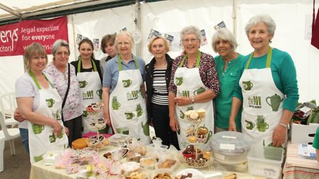 Ladies from the Ottery WI had some delicious cakes on offer at the Ottery Food Fair last June. Photo