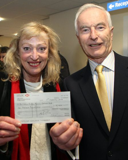 Sidmouth Hospital Comforts Fund receive a donation of £10000 following the Rotary Club's swimathon.