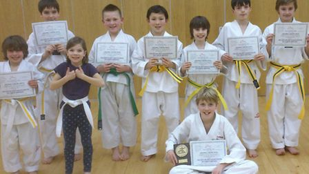 some members of the Sidmouth class, including Aidan with his Grading Award.