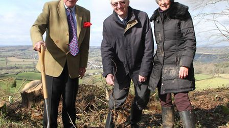 Lord Clinton, Sir Jonathan Phillips of Keble College and Diana East from Sidmouth Arboretum took par
