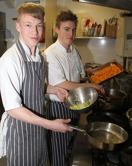 Year 12 and 13 students from Sidmouth College took over the running of The Loft restaurant for the e