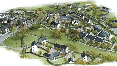 Artists impression of how the development at Island Farm could look