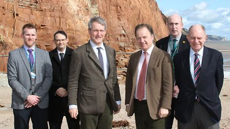 The Secretary of State Owen Paterson was in town on Friday. Photo by Simon Horn. Ref shs 5569-10-14S