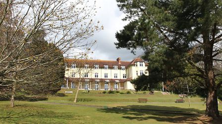 Set in delightful grounds, the headquarters of EDDC at Knowle. Photo by Simon Horn. Ref shs 7701-15-