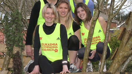 Overcoming Obstacles-Pictured are five of the team of seven people who will be taking part in the 10