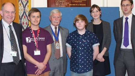 Pictured are (left to right) Andrew Moulding, George Downs, Graham Godbeer, Alfie Weaver, Elizabeth