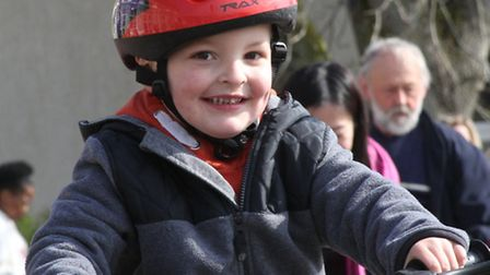 Children from Appletree pre school got on their bikes and scooters on Saturday for a sponsored wheel