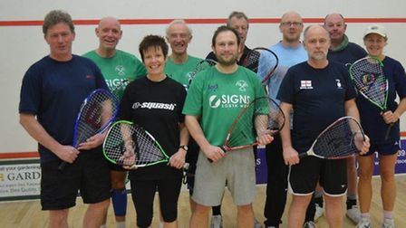 Racket ball players at the Sidmouth competition