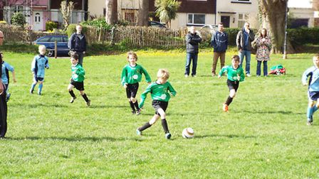 Sidmouth Raiders Under-8 action