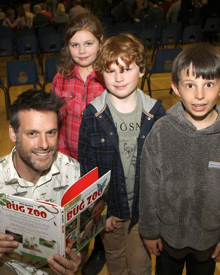 Former presenter of the Really Wild Show, Nick Baker, gave a presentation at the King's School to bu